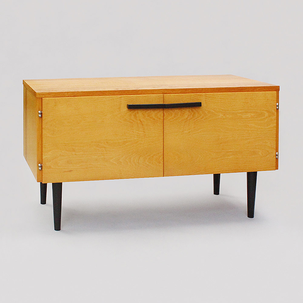 low cabinet with doors