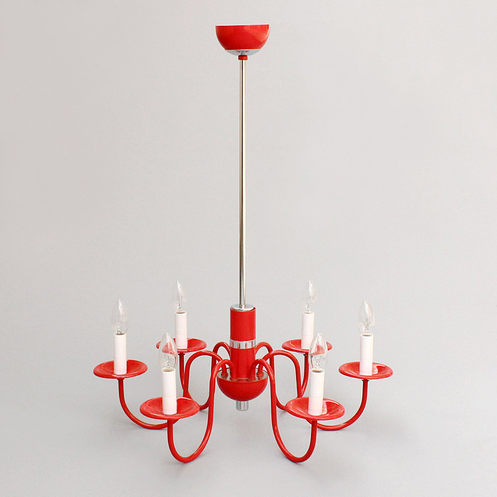 red candle chandelier
