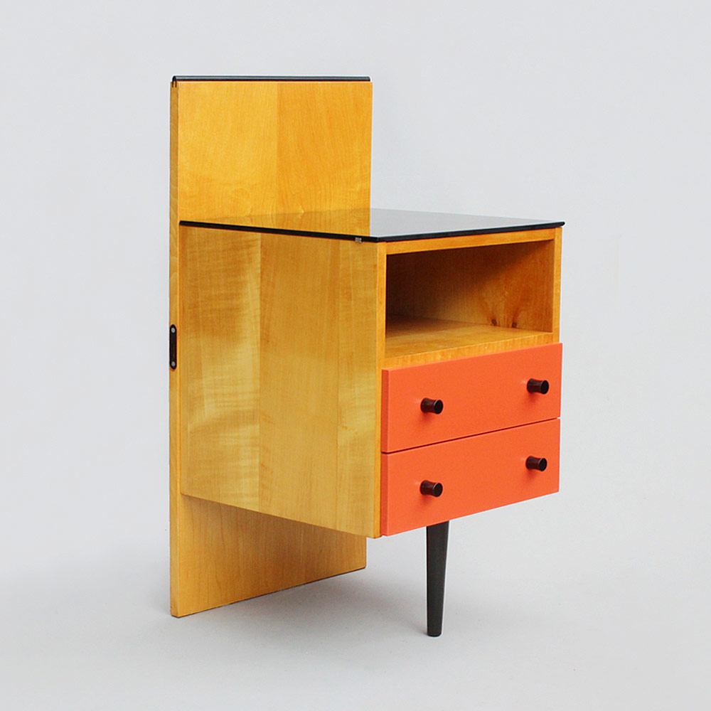 a nightstand with drawers